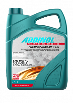 Моторна олива Addinol PREMIUM STAR MX 1048 SAE 10W-40 5 літрів