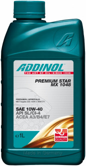 Моторна олива Addinol PREMIUM STAR MX 1048 SAE 10W-40 1 літр