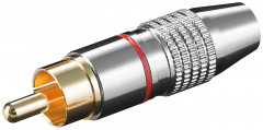 Штекер Goobay FreeEnd-RCA /M Metal Gold D=6.5mm Red червоний 4 шт (75.01.1904)