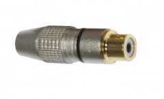 Гніздо Goobay FreeEnd-RCA /F Gold Metal(кабель D=6.5mm) чорний 4 шт (75.01.1908)