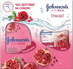 Набор Johnson's Body Care Vita Rich Гранат 250 мл + 125 г (3574661464169)