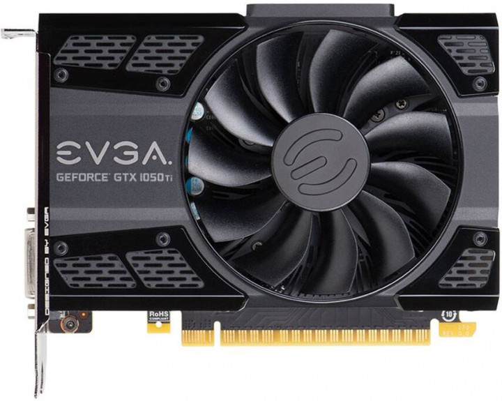 EVGA PCI-Ex GeForce GTX 1050 Ti SC Gaming 4GB GDDR5 (128bit) (1354/7008) (DVI, HDMI, DisplayPort) (04G-P4-6253-KR)