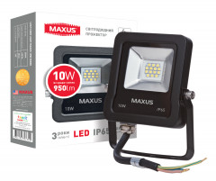 Прожектор MAXUS LED FLOOD LIGHT 10W 5000K (1-MAX-01-LFL-1050)