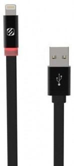 Кабель Scosche Usb Cable to Lightning FlatOut Led 90cm (I3FLED) Black