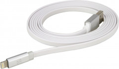 Кабель Scosche Usb Cable to Lightning FlatOut Led 0.9m (I3FLEDWT) White