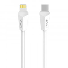 Кабель Nomi DCLT 10ic USB-Lightning-Type-C, 1м White (344267)