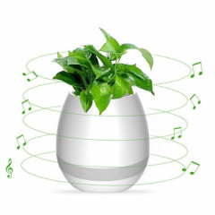 Колонка Bluetooth SK Flower Pot H-01 белый