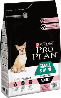 Сухой корм Purina Pro Plan Small & Mini Sensitive Skin с лососем 3 кг (7613035114890)