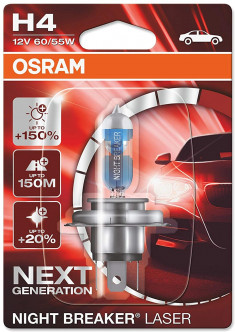 Автолампа Osram Night Breaker Laser Next Generation H4 60/55W (64193NL-01B)
