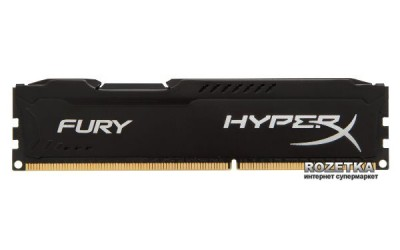 Оперативна пам'ять HyperX DDR3-1600 4096MB PC3-12800 Fury Black (HX316C10FB/4)