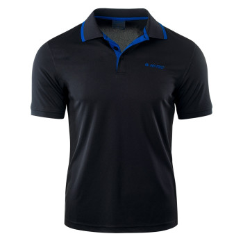 Футболка поло Hi-Tec Site BLACK/MONACO BLUE XL Черный (5902786093564BLC)