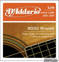 DAddario EJ10 Bronze 80/20 Extra Light (10-47)