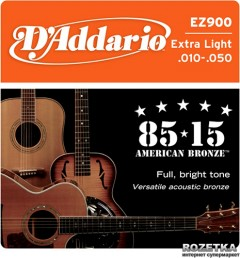 DAddario EZ900 Bronze 85/15 Extra Light (10-50)