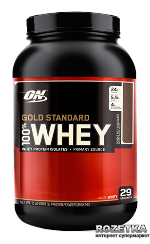 Протеин Optimum Nutrition 100% Whey Gold Standard 909 г Double Rich Chocolate (748927028614)