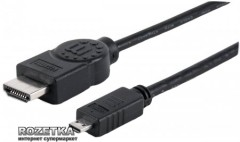 Кабель Manhattan HDMI M/micro with Ethernet M 2.0 м (324427)
