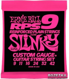 Ernie Ball RPS Reinforced Plain RPS-9 Super Slinky Nickel Wound (P02239)
