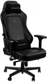 Кресло геймерское NOBLECHAIRS Hero Black/Platinum White (GAGC-117)