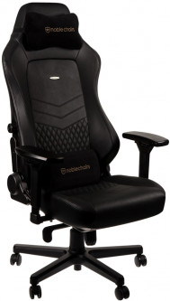 Кресло геймерское NOBLECHAIRS Hero Real Leather Black (GAGC-118)