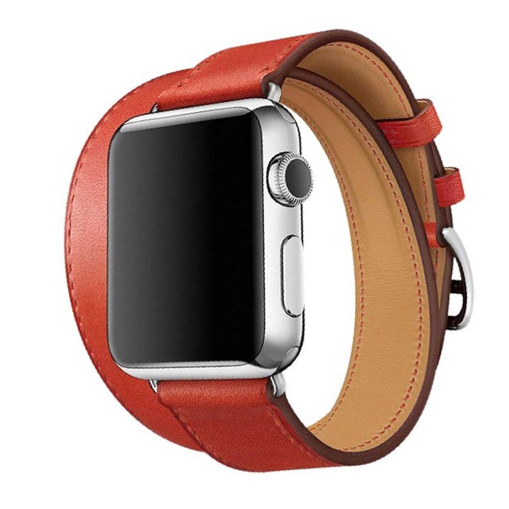Ремешок Hermes Double Tour для Apple Watch 40 38 мм Swift Red (IGWHDT38RS3) a9af1b61461