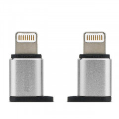 Переходник Remax Visual RA-USB2 microUSB to Lightning Silver (340905)