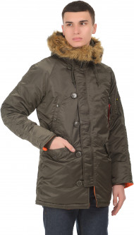 Парка Alpha Industries Slim Fit N-3B Parka S Replica Grey/Orange