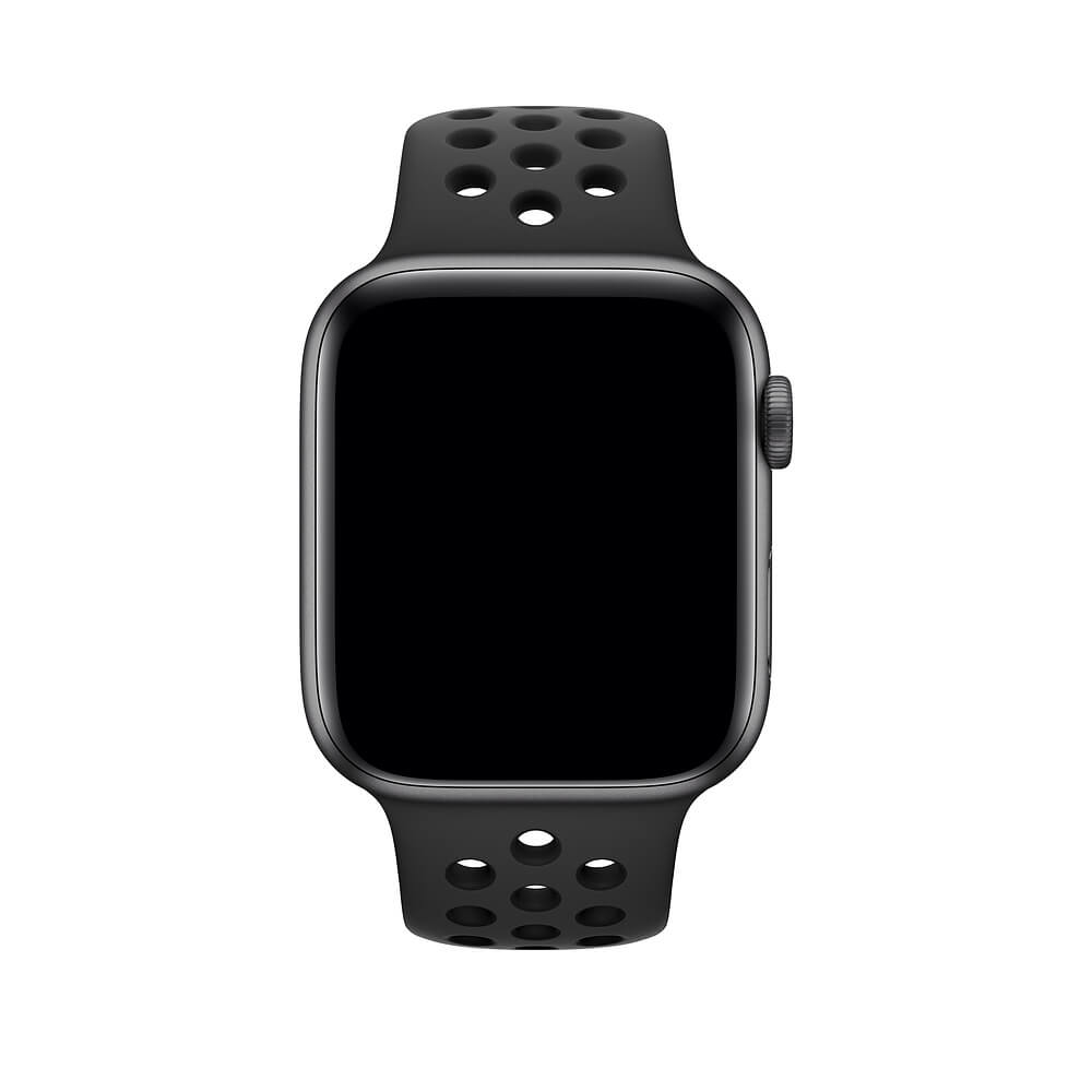 f0225c91538f Apple WATCH Nike+ Series 4 GPS 44mm Space Gray Aluminum Case with  Anthracite Black Nike