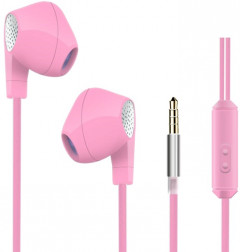 HeyDr W-2 Wired Earphones Pink (F_46457)