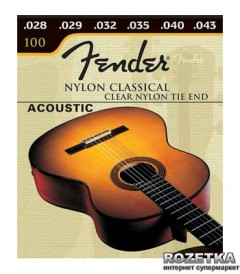 Fender Classical 100 Clear Nylon Tie End (28-43) (073-0100-400)