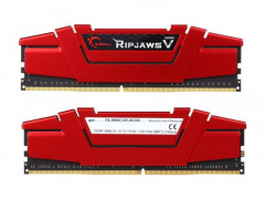 Оперативная память G.Skill DDR4-2666 8192MB PC4-21300 (Kit of 2x4096) Ripjaws V Red (F4-2666C15D-8GVR)