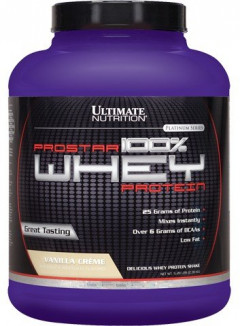 Протеин Ultimate Nutrition Prostar 100% Whey Protein 2390 g /80 servings/ Raspberry 2390 г