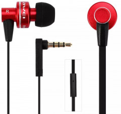 Наушники AWEI ES900i Wired Earphones Red