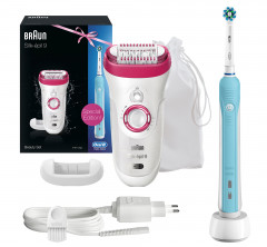 Эпилятор BRAUN SE 9521 + Зубная щетка ORAL-B Professional Care 500/D16