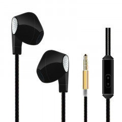 HeyDr W-2 Wired Earphones Black