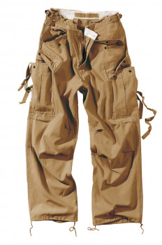 Чоловічі карго штани Surplus Vintage Fatigue Trousers Beige Gewas