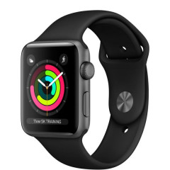 Apple Watch Series 3 GPS 42mm Space Gray Aluminum Case with Black Sport Band (MQL12)