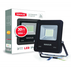 Прожектор MAXUS LED FLOOD LIGHT 30W 5000K (1-MAX-01-LFL-3050)